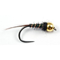 Black gold bead nymph Size 16