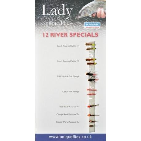 12 River Flies (Pack)