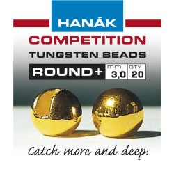 Round Gold Competition Tungsten Beads