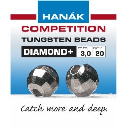 Diamond Gun Metal Competition Tungsten Beads