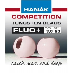 Fluo Salmon Pink Competition Tungsten Beads