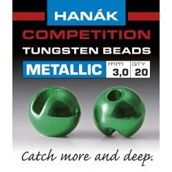 Hanak Metallic + Green Competition Tungsten Beads