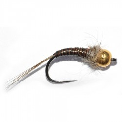 Gold Head Stripped Peacock Body Nymph