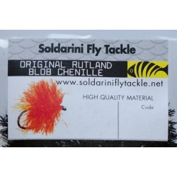Black - 1050 - Blob Chenille - Soldarini Fly Tackle
