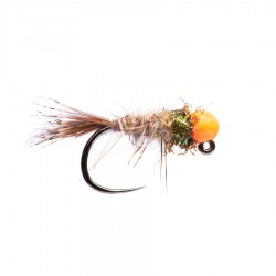 Tungsten Orange Head Hare's Ear (Jig Hook)