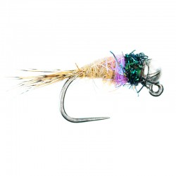 Violet and Silver Bead Hares Ear Jig Nymph