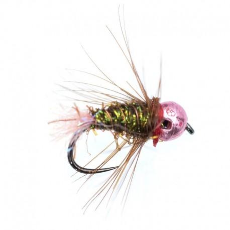 Spectra Pink Tail Metallic Pink Bead