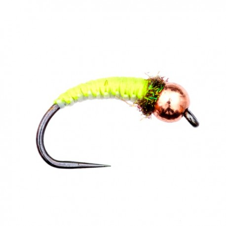 Chartreuse and Grey - Polish Woven Nymph