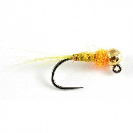 Gold bead olive nymph