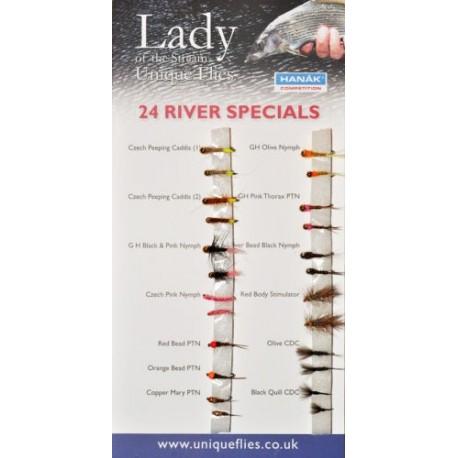 24 River Flies (Pack)