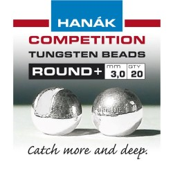 Round Silver Competition Tungsten Bead