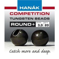 Round Black Competition Tungsten Bead