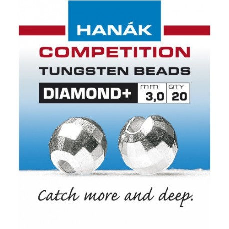 Diamond Silver Competition Tungsten Beads