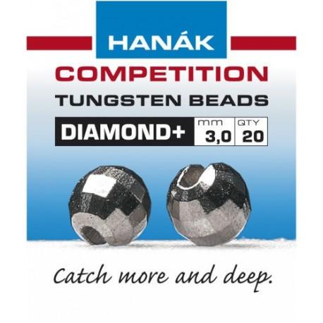 Diamond Gun Metal Competition Tungsten Beads