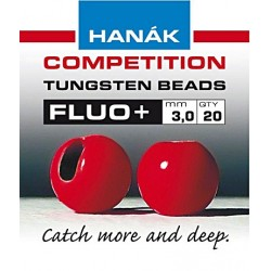 Hanak Fluo Red Tungsten Beads
