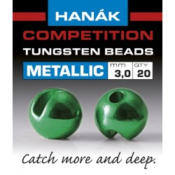 Hanak Metallic + Green Competition Tungsten Beads
