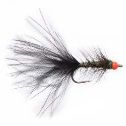 Red Head 4mm Tungsten Black Streamer