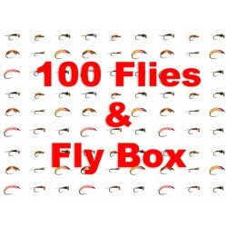 100 Special Selection Flies Plus Free Fly Box