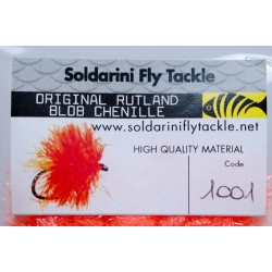 Hot Orange - 1001 - Blob Chenille - Soldarini Fly Tackle
