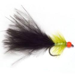 Red bead Olive & Black Dancer