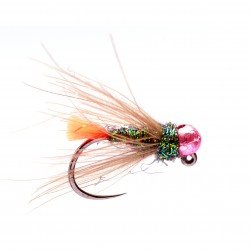 Metallic Pink Bead Red Tag Jig