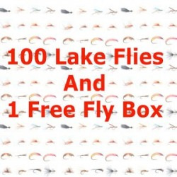 100 Special Lake Flies Plus Free Fly Box