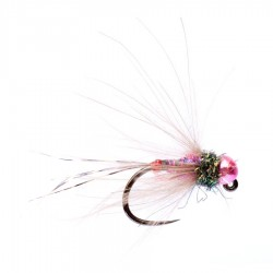 Metallic Pink CDC French Nymph Jig