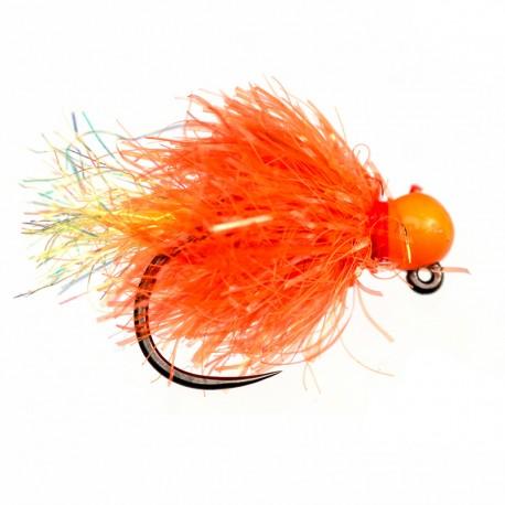 Orange Bead Blob Jig