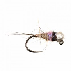 Violet and Silver Bead Hares Ear Nymph Jig