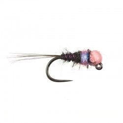 Black and Violet Light Pink Bead Nymph