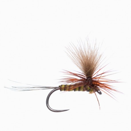 Olive Quill Parachute Dry Fly