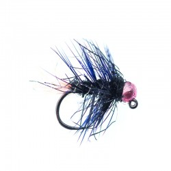 Black Palmered Pink Tailed Jig Nymph