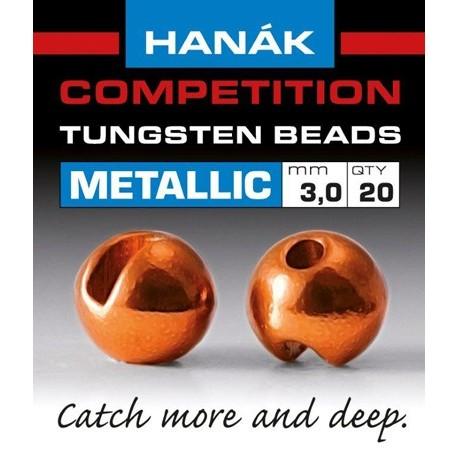 Hanak Metallic + Orange Competition Tungsten Beads