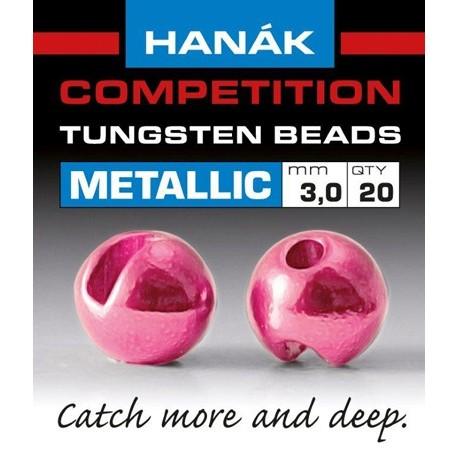 Hanak Metallic+ Pink Competition Tungsten Beads