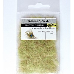 Peacock Dubbing - Golden Olive